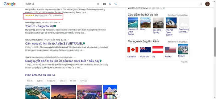 Làm sao để google search ra phần mô tả có dấu sao