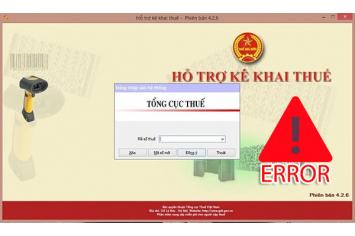 Sửa lỗi phần mềm HTKK
