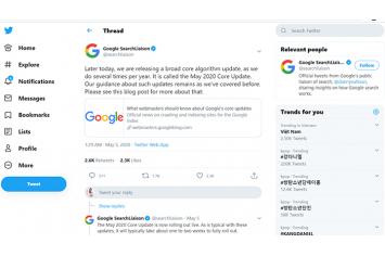 Google cập nhật thuật toán SEO tháng 5 2020